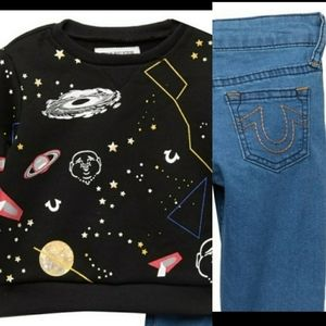 NWT | 3T | TRUE RELIGION | COSMIC SPACE 2 PC SET